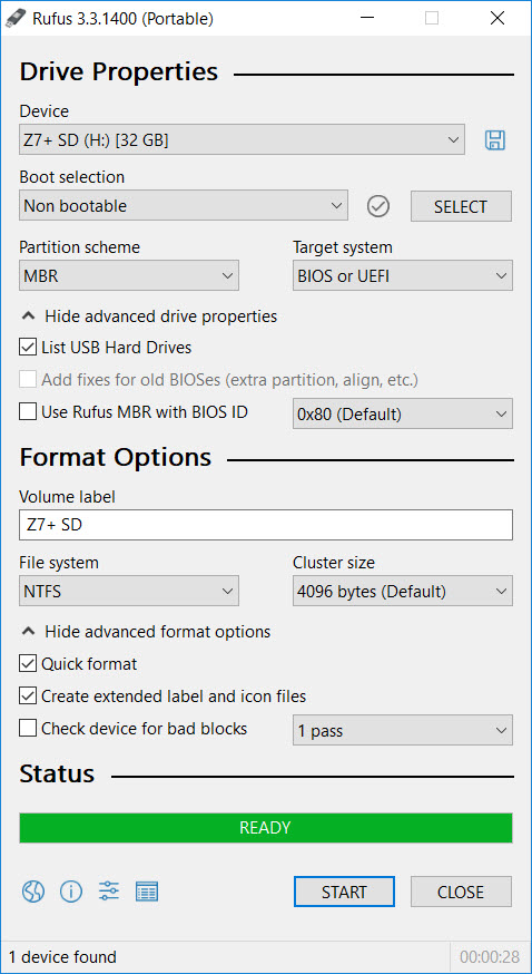 How to format Micro SD card, USB flash drive, pen drive, hard drive