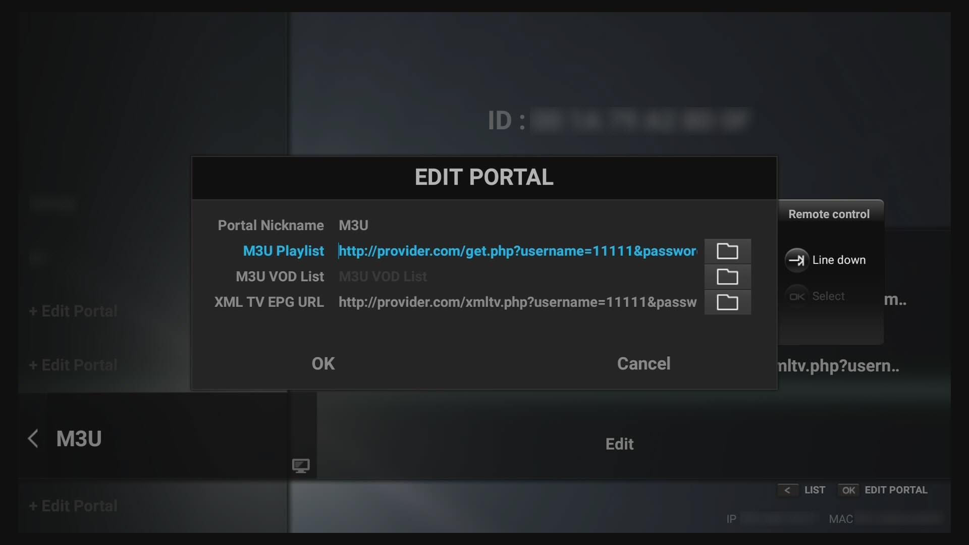 How to use MAC/ID portal, Xtrema Codes Api (XC) and M3U Url